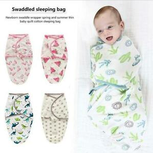Newborn Swaddle Wrap Receiving Blanket Cute Infant Sleeping Bag For 0-6 Months