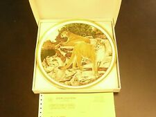 Lenox Mountain Lions Plate 1982 The American Wildlife Plates Collection