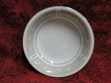 """Mikasa Chapel, Green Bells on White with Platinum: Fruit Bowl (s) 5 5/8"""""""