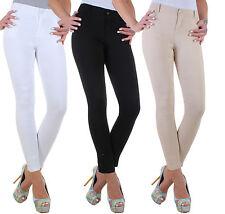 Damen High Waist Super Stretch Jeans Hose Röhre Slim Röhrenjeans Übergröße ★ 17g