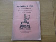 DYNAMOMETRE A LEVIER OU BALANCE DYNAMOMETRIQUE  MARINE 1881 CHAUVIN DARBEL
