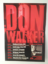 DON WALKER 2013 Aus Tour Poster A3 COLD CHISEL TEX & CHARLIE Hully Gully **NEW**