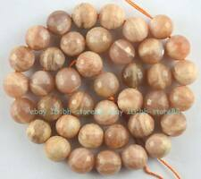 10mm Natural Sunstone Round Faceted Loose Beads 15''