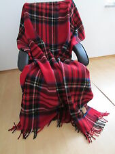 Englische Wolldecke Tagesdecke  Schurwolle Decke Blanket 150x200