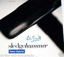 PETER GABRIEL HAND SIGNED AUTOGRAPHED SLEDGEHAMMER ALBUM! WITH PROOF + C.O.A.!