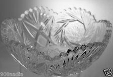 VINTAGE GLASS OR LEAD CRYSTAL BOWL/VASE PINWHEEL/STARBURST/STRAWBERRY  PATTERN