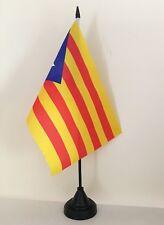"""CATALAN INDEPENDENCE BLAVA ESTELADA TABLE FLAG 9"""" X 6"""" 22.5cm x 15cm flags SPAIN"""