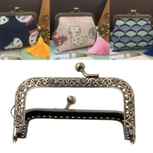 1PC Metal Frame Kiss Clasp Arch For DIY Coin Purse Bag Accessories Bronze 8.5cm