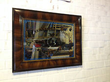 Antique Frame w/ Reproduction Mirror Engraved American Express Company Bank