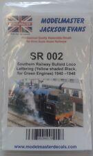 jaune/ Noir décalques pour vert SR Bulleid LOCOS (1940-47) MODELMASTER mmsr002