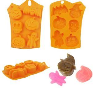 Halloween Pumpkin Ghost Face Bat Skull CupCake Decorate Icing Chocolate Mould