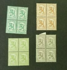 Finland, Suomi, small lot of Liontype MNH blocks of 4