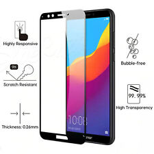 Black FULL Cover 3D Tempered Glass Screen Protector Front For Huawei Honor 7S