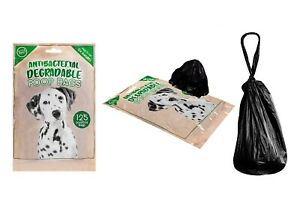 DOG POO BAGS  125  BIODEGRADABLE  BLACK POOP BAGS