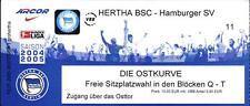 Ticket BL 2004/2005 Hertha BSC - 1. FC Nürnberg, 12.02.2005