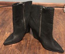 ASH shoes wedges black leather 39