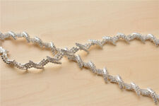 Crystal Costume Trim Bridal Gown Rhinestone Applique Beaded Wedding Dress Chain