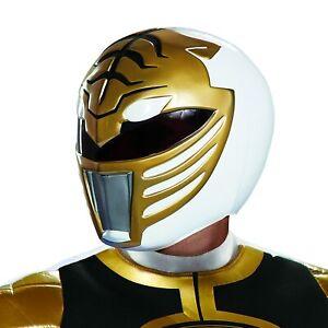 White Ranger Helmet Mighty Morphin Power Rangers Halloween Costume Accessory
