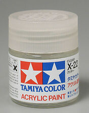 Tamiya X22 Gloss Clear 3/4 oz Large Acrylic Paint Jar 81022 TAM81022
