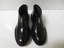ADIEU PARIS Black Type 3 Zip Front Chukka Boot Shoes Flats FR 37 NEW BOX $575