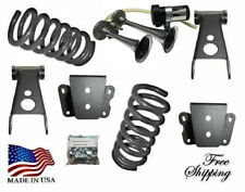 """3""""-4"""" Drop Lowering Coil Springs Shackles Hanger Horn Fits 1965-1972 Ford F100"""