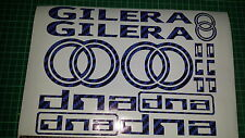 Gilera DNA Decals/Stickers EXCLUSIVE BLUE CARBON DESIGN 50 70 125 172 180 210