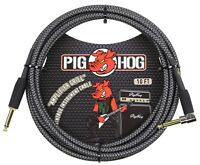 Pig Hog Woven Amp Grill Instrument Cable 10' 1/4 Straight & RT Angle Connector