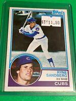 🔥 1983 TOPPS Baseball Card Set #83 🔥  Chicago Cubs - RYNE SANDBERG - ROOKIE RC