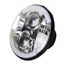 Harley Davidson Chrome 7inch LED Headlight Daymaker Projector H4 H13 Head Lamp