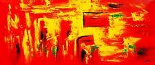 "Abstracto-Backdraft 30x72 ""Pintura Al Óleo"