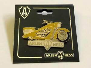 "Arlen Ness Custombike ""gelb"" Pin / Anstecker ""1984er"""