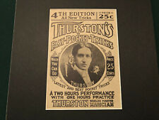 Howard Thurston Antique vintage magic magician trick prop illusion poster signed