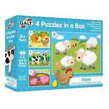 Galt 4 Puzzles in a Box - Farm Puzzle 3+