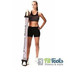 Everlast Pilates Fitnessband, Gymnastikband, Physioband, Latexband mit Handgriff
