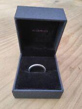 Platinum 950 Wedding Band, 0.1 Carat Diamond, H Samuel Jewelers, With Box