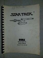 Sega Star Trek Video Arcade Game Operation and Maintenance Manual