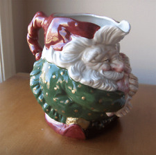 Fitz and Floyd Old World Elves large figural Christmas pitcher~1989~Pristine-NR