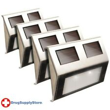 PE Solar Deck Lights, 4 pk (Stainless Steel)