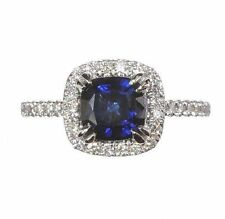 Halo Sapphire Fine Rings