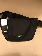 New Adidas Man Bag/Shoulder Bag/Bum Bag/Waist Fanny Pack - Black BNWT