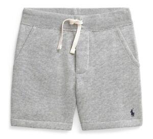 NEW Nwt Ralph Lauren POLO Boys Grey Summer Cotton Blend Fleece Shorts $29 Size 5
