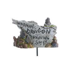 "Fairy Garden Sign ""Warning, Dragon Training Site"" Miniature Garden Accessory"