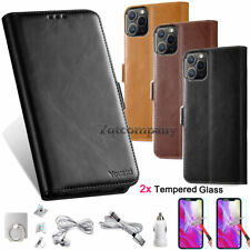 iPhone 11 / 11 Pro / 11 Pro Max Leather Flip Wallet Case Cover Stand Pouch Card