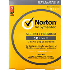 Norton Internet Security Premium - 10 Devices-1 Year-25GB Cloud-Email Delivery
