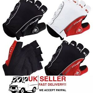 Castelli Rosso Corsa Classic HALF FINGER Cycling Bicycle MTB Gloves