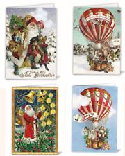 Edition Tausendschön*Weihnachten*Doppelkarte*Nostalgie*Santa&Heißluftballon*