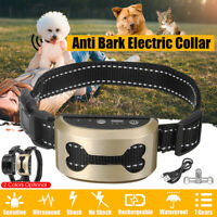 Rechargeable Electric Anti Bark Pet Dog No Barking Training Shock Control Collar
