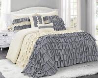 HIG 7 Piece  Classic Comforter Set-Ruffled Style - Hypoallergenic