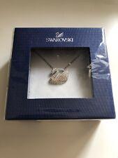Swarovski Iconic Swan Pendant Necklace Multi Coloured
