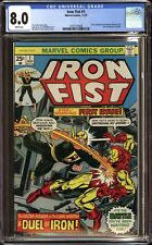 IRON FIST #1 (1975 Marvel) CGC 8.0 VF JOHN BYRNE ARTWORK , IRON MAN